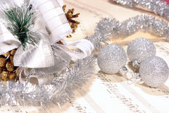 Notas da folha da canção de natal do Natal Fotografia de Stock