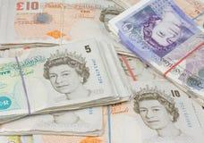 notas da libra britânica Foto de Stock