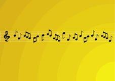 Notas da música Fotografia de Stock