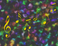 Notas da música Imagens de Stock Royalty Free