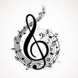 Notas da música Imagem de Stock