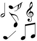 Notas da música Imagens de Stock