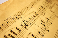 Notas da música clássica Imagens de Stock Royalty Free