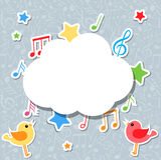Notas da música com bolha do discurso Foto de Stock Royalty Free