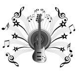 Notas da música da bandeira Imagem de Stock