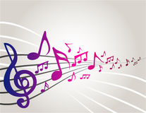 Notas da música de dança Fotografia de Stock Royalty Free