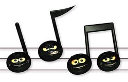 Smiley Music Notes fotografia de stock