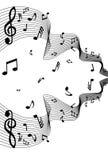 Notas da música do vetor Foto de Stock