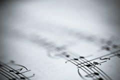 Notas da música Foto de Stock