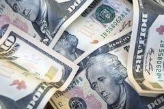 notas de 10 dólares Imagen de archivo libre de regalías