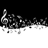 Notas de la música del cartel Imagen de archivo