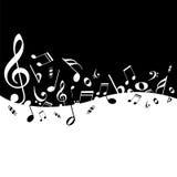 Notas da música do cartaz Imagem de Stock
