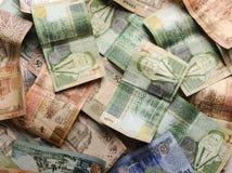 Notas de banco árabes do dinheiro imagem de stock