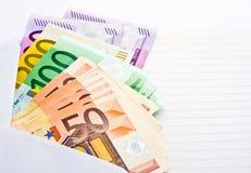 Notas de banco Imagens de Stock
