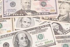Notas de banco americanas Fotografia de Stock