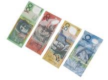 Notas de banco australianas Fotografia de Stock