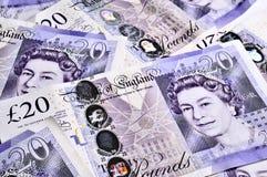 Notas de banco BRITÂNICAS Imagens de Stock Royalty Free