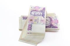 Notas de banco checas Imagem de Stock
