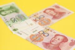Notas de banco chinesas de Yuan Foto de Stock Royalty Free