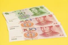 Notas de banco chinesas de Yuan Imagem de Stock Royalty Free