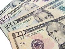 Notas de banco - dólares americanos Fotos de Stock Royalty Free