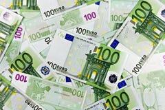 Notas de banco da euro- moeda Fotografia de Stock