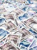 Notas de banco da moeda dos ienes japoneses Fotos de Stock
