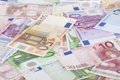 Notas de banco da União Europeia Imagens de Stock