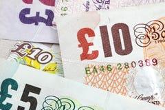Notas de banco de libra esterlina Fotografia de Stock