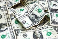Notas de banco de um dólar imagem de stock