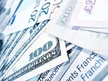 Notas de banco - dinheiro do mundo Imagens de Stock Royalty Free
