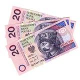 Notas de banco - dinheiro polonês Fotos de Stock