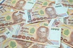 1000 notas de banco do baht Foto de Stock Royalty Free