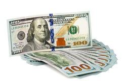100 notas de banco do dólar americano Imagem de Stock Royalty Free