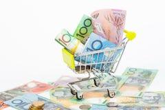 Notas de banco do dólar australiano Imagens de Stock