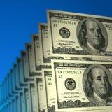 Notas de banco do dólar Fotografia de Stock