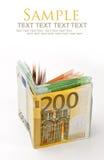 Notas de banco do euro Foto de Stock