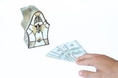 Notas de banco dos dólares Foto de Stock