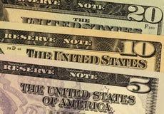 Notas de banco dos EUA Fotografia de Stock Royalty Free