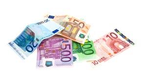 Notas de banco dos euro Fotografia de Stock