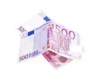 Notas de banco dos euro Imagens de Stock