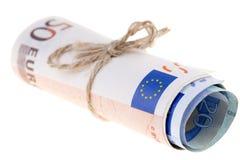 Notas de banco dos euro Fotos de Stock