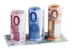 Notas de banco dos euro Fotos de Stock Royalty Free