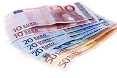 Notas de banco dos euro Imagem de Stock