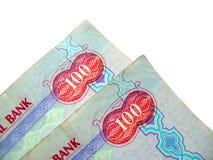 Notas de banco dos UAE Foto de Stock