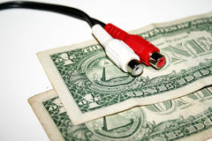 Notas de banco e tecnologia do dólar Imagem de Stock