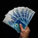 Notas de banco em uns frascos Fotografia de Stock Royalty Free