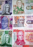 Notas de banco escocesas. imagem de stock royalty free