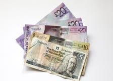 Notas de banco escocesas Imagem de Stock