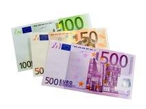 Notas de banco - euro Imagem de Stock